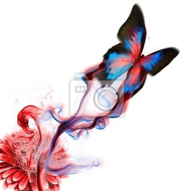 Exotischer Schmetterling Design
