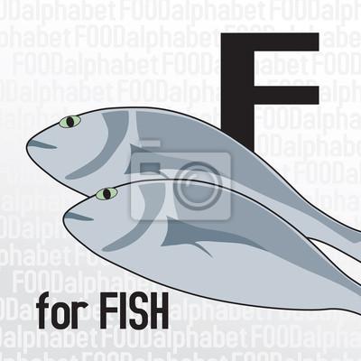 F für Fisch, das Essen Alphabet