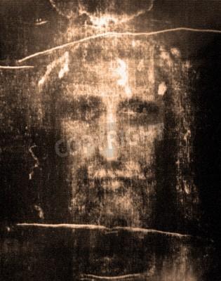 Bild Face of Jesus from  Shroud of Turin