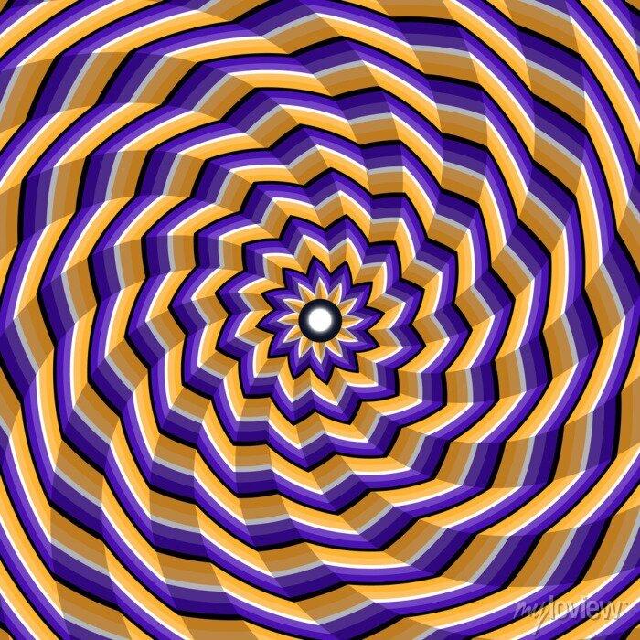 Bild Facettierte Spirale Verdrehen zur Mitte. Abstract vector optische Täuschung Hintergrund.