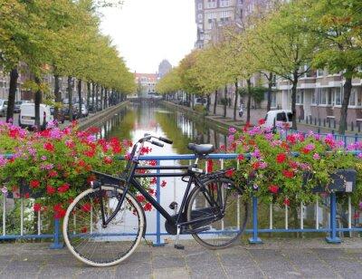 Bild Fahrrad auf einer Brücke