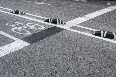 Bild Fahrradweg Signage in der Stadt