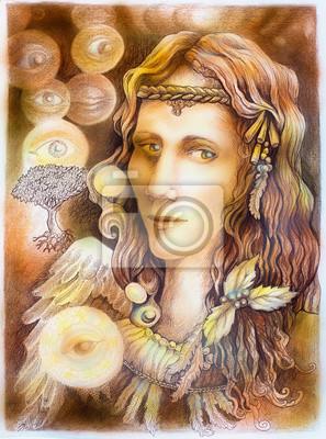 Fairy Engel portait Zeichnung