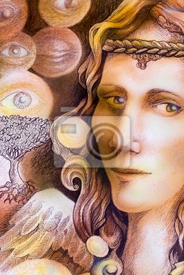 Fairy Engel Portrait zeichnen, gesicht nahaufnahme