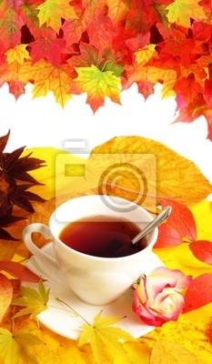 Bild fallen Tasse Tee