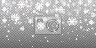 Bild Fallender Schnee auf einem transparenten Hintergrund. Vektorabbildung 10 ENV. Zusammenfassung Schneeflocke Hintergrund. Schneefall.