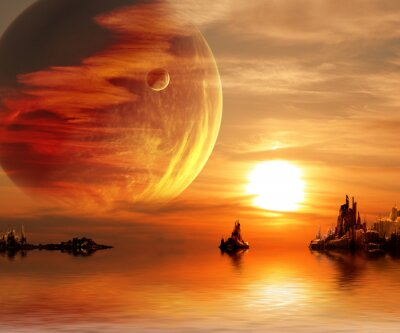 Fantasie Sonnenuntergang