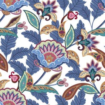 Bild Fantasy Blumen nahtlose Paisley-Muster. Floral Ornament, für Stoff, Verpackung, Tapeten