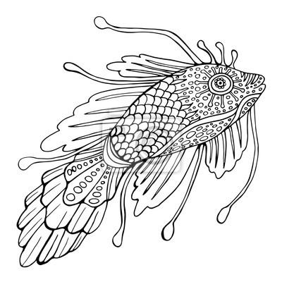 Fantasy Fisch Malvorlagen Für Kinder Und Erwachsene Leinwandbilder
