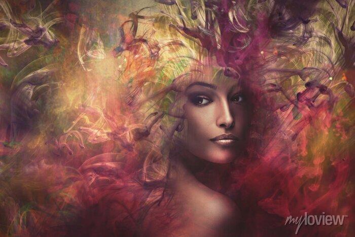 Bild Fantasy Frau zusammengesetzt