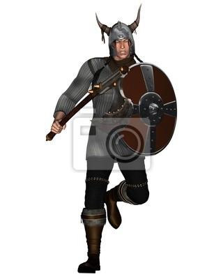 Fantasy Stil Viking Warrior Offensives