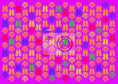 Farbe Hintergrund mit Ornamenten