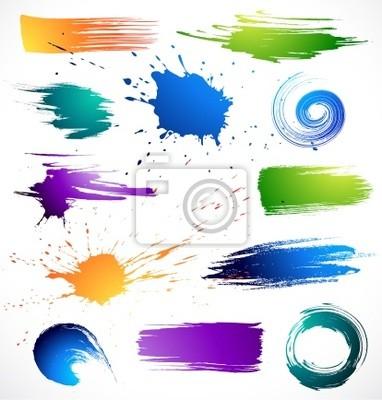Bild Farbe paints.Grungy