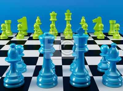 Farbe Schachbrett