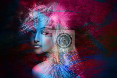 farbenfrohe Phantasie Schönheit