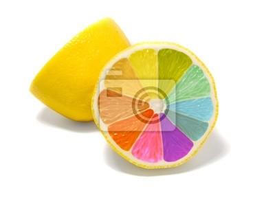 Bild farbige Zitrone