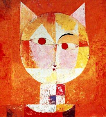 Bild Farbiges Porträt einer Katze