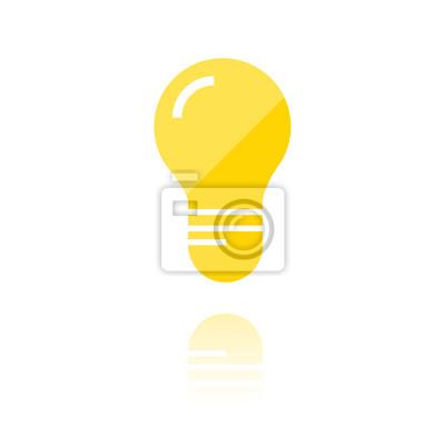 Farbiges symbol - glühbirne leinwandbilder • bilder imaginative ...