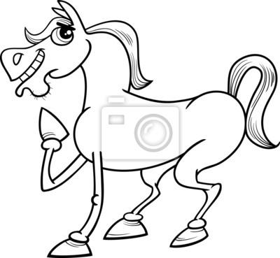 Farm horse cartoon malvorlagen leinwandbilder • bilder schnelles ...