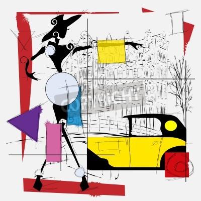 Bild fashion girl kubismus kunst modern