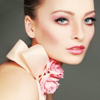 Bild Fashion girl portrait.Accessorys.On grauem Hintergrund