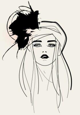 Bild Fashion Modell Gesicht / eleganten Look