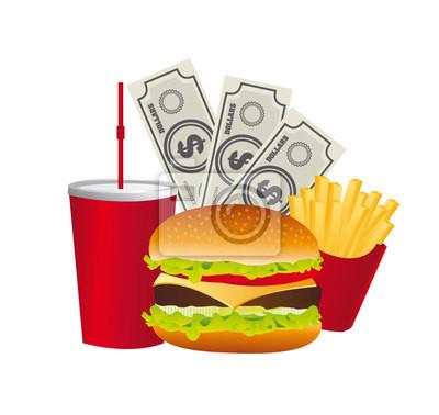 Fast Food mit Rechnungen