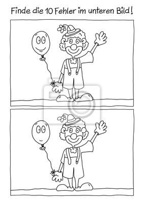 Bild Fehlerbild Karneval Clown