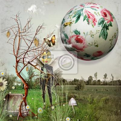 Feld vintage mit seltsamen Märchen
