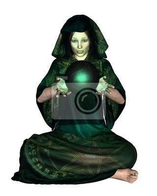 Female Mystic mit Crystal Ball