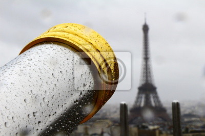 Bild Fernrohr, gerichtet auf Eiffelturm, Paris