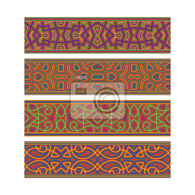 Festive tribal ribbon design. Move ornament elements to Brush Panel to create vector pattern brushes.