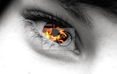 Feuer und Auge