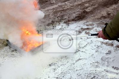 Feuerlöscher Demonstration