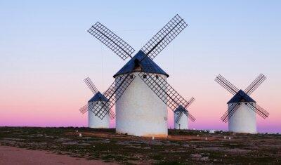 Bild Few windmills at field in evening