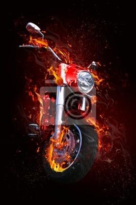 Bild Fiery Motorrad