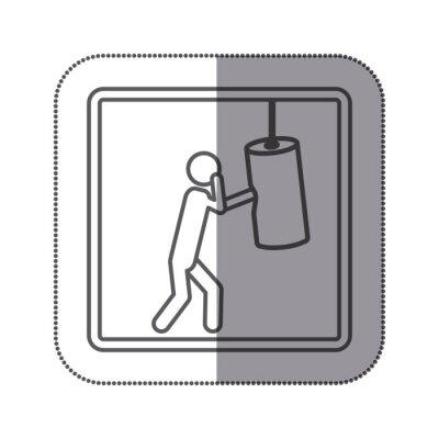Figur Person üben Boxen Symbol, Vektor-Illustration Design-Bild