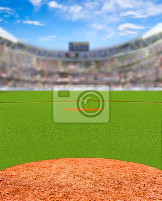 Fiktives Baseball-Stadion mit Textfreiraum