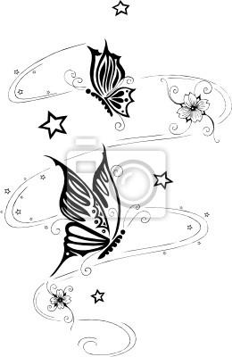 Motive blumen sterne schmetterlinge tattoo Tattoo Bilder