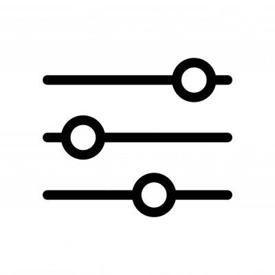 Bild filter icon - black vector sign
