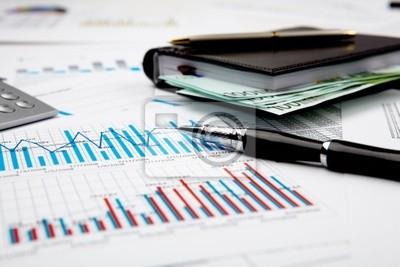 finanzielle Diagramme und Grafiken