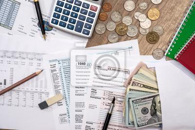 Finanzstatistik dokumente - steuer formular, persönliches budget ...