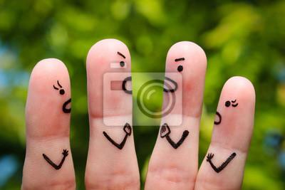 Bild Finger Kunst der Menschen während des Streites.