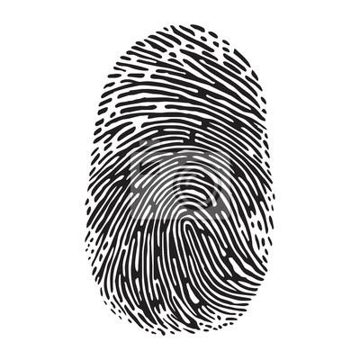 Fingerabdruck Leinwandbilder Bilder Vereinfacht Fingerabdruck