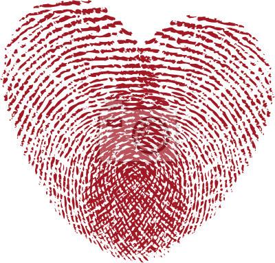 Fingerabdruck Herz Leinwandbilder Bilder Identifizierung
