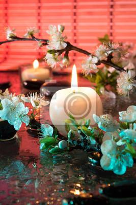 fiori di Mandorla con Candela - Farbtherapie