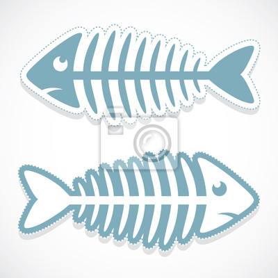 Fischgräte Aufkleber - Vektor-Illustration