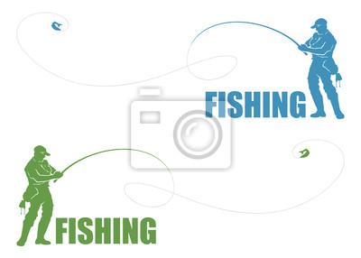 Fisherman Etikett - Vektor-Illustration