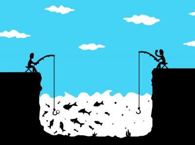 Bild Fishing Envy Cartoon