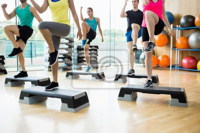 Fitness-Klasse Ausübung im Studio